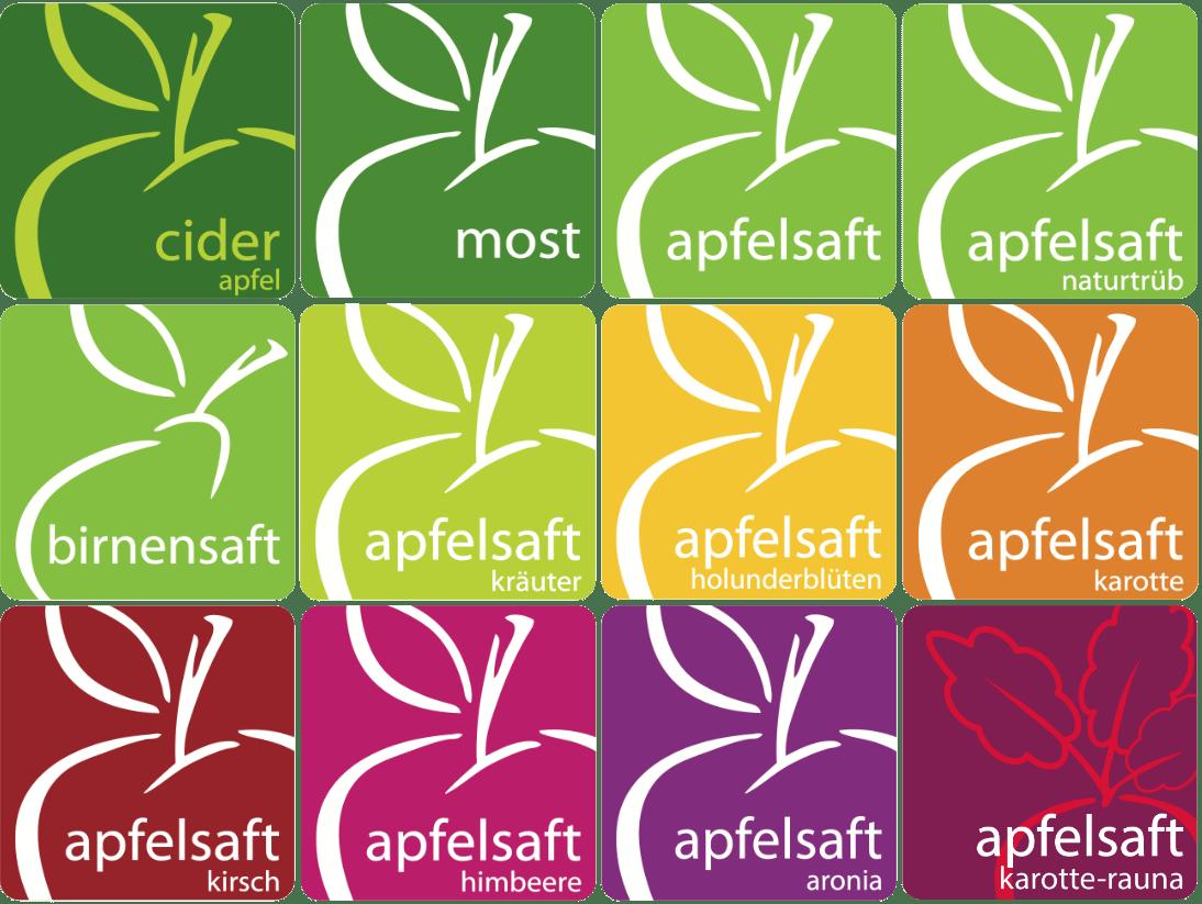 Apfelhof Gatterbauer Saftsorten